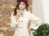 韩版女装冬装新款毛领斗篷呢子大衣优质毛呢