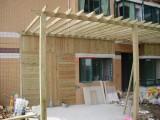 重庆防腐木生产设计安装厂家定制各种防腐木花箱安装防腐木长廊安