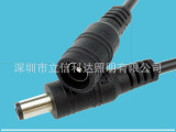 12V低压灯带DC电源连接头配件5.5 2.1公头母头