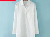 2014新款韩国代购 东大门韩版女装宽松大码 衬衫女长袖 棉麻