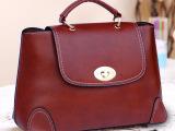 新款包包2014春夏古典学院风时尚女包手提公文包单肩斜挎定型包潮