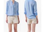 ASDS528特价 2013女装雪纺衬衫 欧美女衬衫 肩章衬衫8547