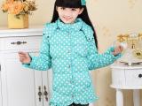 厂家直销儿童羽绒服  女童韩版中长款羽绒服外套 外贸羽绒服批发