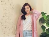 韩国代购2014新款外套宽松粉色超长款毛衣开衫女针织显瘦羊毛衫