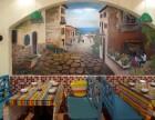 广州墙绘 餐厅墙体彩绘 壁画背景墙 墙画手绘