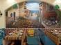 餐厅墙体彩绘 壁画背景墙 墙画手绘