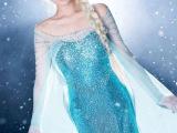 现货冰雪奇缘 成人礼服裙Elsa爱莎纯手工cosplay女装 连