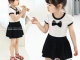 韩版时尚纯棉女童连衣裙 夏季女童拼接公主裙 厂家童装童裙清仓