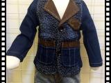儿童牛仔西装 超酷帅气 牛仔系列童装90-120CM 男童 女童