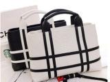 2014新款欧美潮流黑白撞色单肩斜跨包方形复古时尚手提夏款女士包