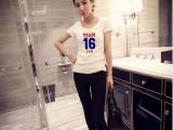 新款韩版女装修身白T短袖,厂家直销