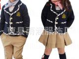 雨涵新款英伦风幼儿园园服春秋套装小学生校服班服儿童表演服批发