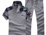 2014新款春夏季男女短袖长裤套装男式卫衣纯棉休闲运动服情侣套装