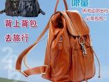 广州工厂批发价新款双肩背包女韩版真皮女包头层牛皮旅行33921