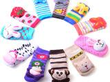 婴儿袜子艾尼熊地板袜宝宝立体松口学步袜毛圈袜 1-2岁防滑童袜