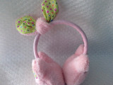 秋冬新款卡通可爱兔耳朵保暖毛绒耳罩批发 米奇耳朵