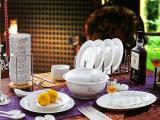 消毒餐具陶瓷 景德镇餐具 家用陶瓷餐具 56头骨瓷餐具礼品套装