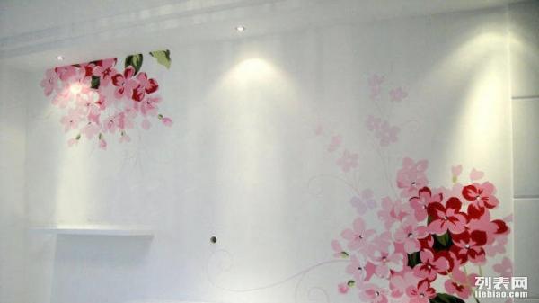 背景墙绘彩绘 手绘3D画