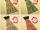 厂家直批 地摊货源 波西米亚夏季拼色长裙超低价女装连衣裙