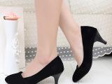 14年春季新款白领高跟工作鞋小尖头女鞋女OL通勤百搭职业时尚单鞋