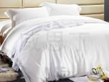 厂家直销 白色床上用品宾馆酒店四件套 全棉贡缎酒店布草批发