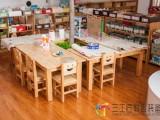 幼儿园儿童六人桌实木课桌椅叠叠床书包柜玩具柜