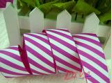 丝带织带批发彩带礼品包装带罗纹带印三色菱形格子8分可定制