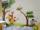 武侯区儿童房卡通画墙绘、幼儿园壁画、定制手绘墙绘
