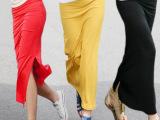 2013夏季包臀半身长裙子一步包臀裙侧开叉莫代尔长裙全棉