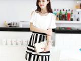 2014夏装新款 韩版气质圆领露肩 收腰雪纺连衣裙连身裙