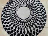 厂家直销 地毯地垫 手工晴纶客厅办公室椅子床边地毯 圆形可定制