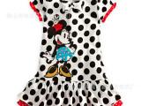 2014新款童裙/迪士尼黑色圆点-米妮连衣裙-外贸夏季童装品牌-046