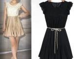 欧美2014新款连衣裙夏季修身公主短袖淑女蕾丝大码雪纺连衣裙