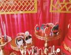 薇安 中国风唯美婚礼传统翻糖蛋糕 精致红色翻糖饼干