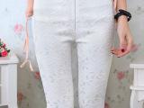 秋装新款女明星同款外穿裤显瘦修身打底裤蕾丝铅笔小脚裤