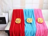 春季新款短毛绒太阳花空调毯夏季宝宝礼物卡通毛绒空调被招代理