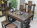 河池老船木办公桌实木家具电脑桌会议桌老板桌茶桌