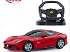 星辉车模 118法拉利F12方向盘遥控车可充电超大遥控汽车