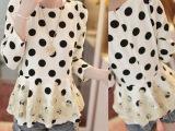 春款韩版女装 蕾丝雪纺拼接修身长袖连衣裙女 气质打底裙