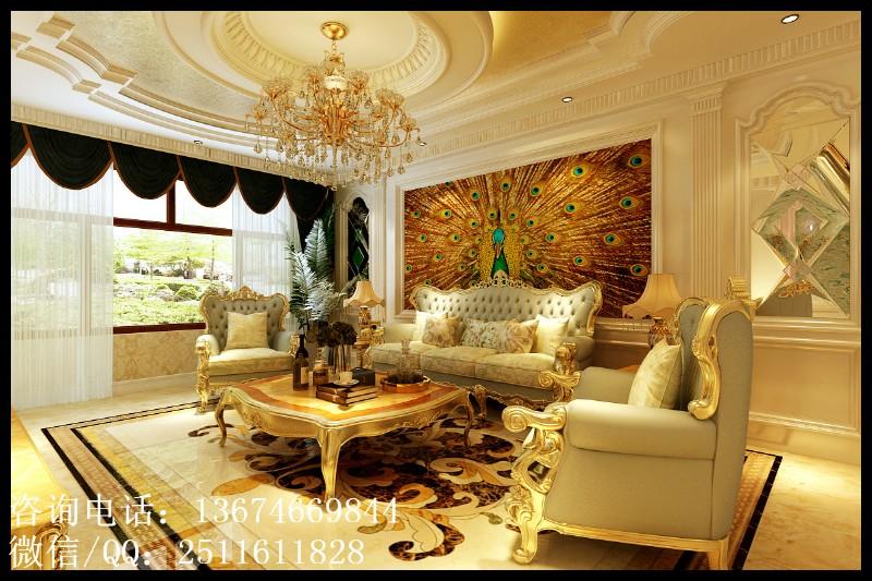 明居装饰 宝宇天邑澜湾 180平 三室两厅两卫 欧式风格