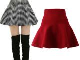 2014秋冬新款时尚针织韩版半身裙蓬蓬伞裙高腰打底小短裙A30