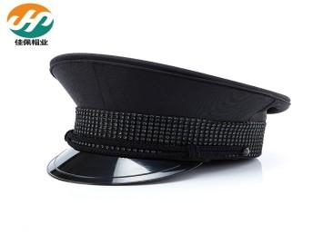 厂家专业定做航空大盖帽制服大沿帽工作帽成人帽