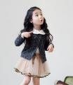 正品韩国童装批发分销2015新款韩国女童春秋长袖小外套开衫