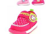 2014秋季新款 小兔米菲童鞋批发 女童可爱波点单鞋 棉布叫叫鞋