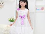 热销夏季新款韩国外贸童装批发 无袖网纱女童儿童连衣裙一件代发