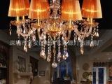 欧式田园客厅灯 卧室餐厅灯具 客厅现代卧室灯 奢华水晶灯具