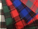现货供应全棉磨毛21S色织格子布 红黑方