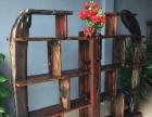 鄂尔多斯市老船木家具茶桌椅子沙发茶几茶台餐桌博古架办公桌罗汉