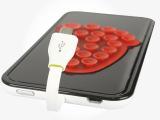 厂家批发三星V8吸盘式充电宝 通用安卓系统手机无线背夹移动电源