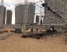三亚铝合金灯光广告钢铁折叠舞台桁架背景墙铁马篷房看台拉网